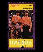 Pink Floyd Postage Stamp From Rwanda