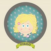 Zodiac signs collection. Cute horoscope - VIRGO.