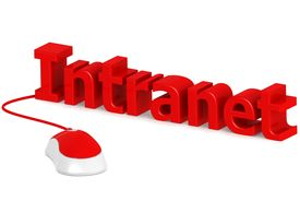 stock photo of intranet  - Intranet image with hi - JPG