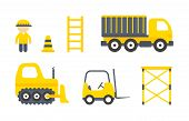 image of dozer  - Vector Construction Machines Set - JPG