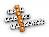 online learning webinar  (orange-white crossword series)