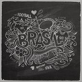 Brazil 2014 On Chalkboard