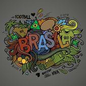 Brasil Summer Vector hand lettering