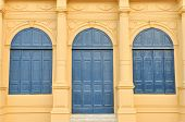 Vintage Door And Window Of Historic Building In Wat Phra Kaew