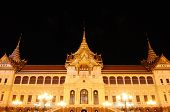 The Grand Palace At The Emerald Buddha Temple In The Night, Wat Phra Kaew