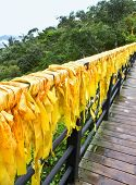 Chinese Traditional Yellow Ribbons