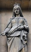 PARIS, FRANCE - NOV 09, 2012: Saint Adelaide of Italy, architectural details of Eglise de la Madelei
