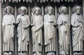 PARIS, FRANCE - NOV 05,2012: Bartholomew, Simon, James the Less, Andrew, John, and Peter, architectu
