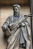 PARIS, FRANCE - NOV 09, 2012: Saint Philip the Apostle, architectural details of Eglise de la Madele