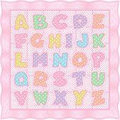 Alphabet Baby Quilt, Pink Pastels
