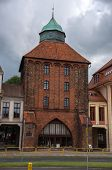 The New Gate (Nowa Brama) 14th century in Slupsk, Poland.