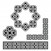 Irish Celtic design - patterns, knots and braids