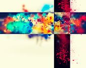Modern colorful abstract background with space for your text.