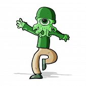 cartoon alien monster man