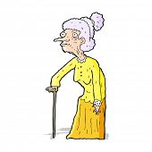 cartoon old woman