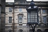 image of square mile  - street lantern on a square in edinburgh - JPG