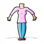 cartoon female body (add photos or mix and match cartoons)