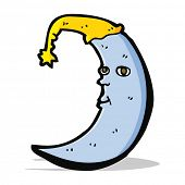 sleepy moon cartoon