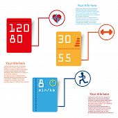 Sport infographic tags vector