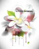 eps10 vector grunge 3d flower background