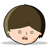 cartoon unhappy boy