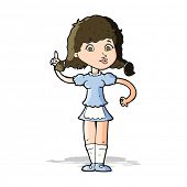 cartoon pretty maid woman