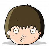 cartoon curious boy