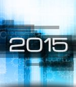 2015 high tech new year background for seasonal event poster or for your business project.