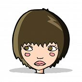 cartoon unhappy girl