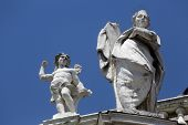 PARMA, ITALY - MAY 01, 2014: Saint and Angel. Basilica Santa Maria della Steccata. Basilica is a Mar