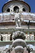 PARMA, ITALY - MAY 01, 2014: Statue of Angel. Basilica Santa Maria della Steccata. Basilica is a Mar