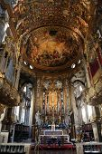 PARMA, ITALY - MAY 01, 2014: Altar in Basilica Santa Maria della Steccata. Basilica is a Marian shrine made ??in Parma between 1521 and 1539 and in 2008 elevated to the rank of minor basilica
