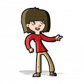 cartoon girl pointing