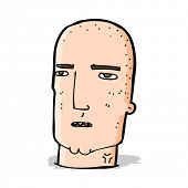 cartoon bald tough guy