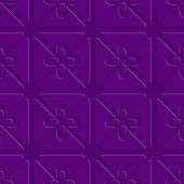 Embossed Purple Flourish Simple Pattern