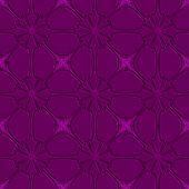 Purple Flourish Embossed Tile Ornament