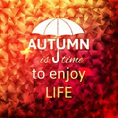 Bright autumn calligraphic design background