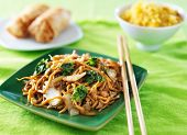 picture of lo mein  - chicken lo mein chinese food - JPG
