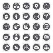 network icons, communication icons