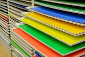 Color Paper On Shelf