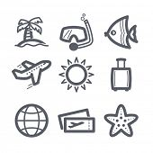Travel and vacation Icons set Illustration set // 02