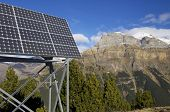 photovoltaic panels for electric production in Ordesa National Park, Pyrenees, Huesca, Aragon, Spain