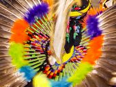 Soft Colors Of Indian Head dress In Motion