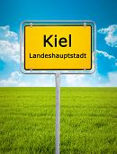 An image of the city sign of Kiel