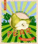 Pear retro poster
