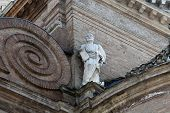 PARMA, ITALY - MAY 01, 2014: Saint Peter. Basilica Santa Maria della Steccata. Basilica is a Marian shrine made ??in Parma between 1521 and 1539 and in 2008 elevated to the rank of minor basilica