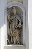 PARMA, ITALY - MAY 01, 2014: Saint Blaise statue, St Lucia church. Church, originally known as St. M