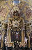 PARMA, ITALY - MAY 01, 2014: Altar in the church of Saint Vitale. The church of St Vitale is located