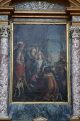 PARMA, ITALY - MAY 01,2014: St Francis of Paola and King Louis XI, altar painting in the church of S