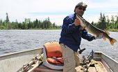 Happy Fisherman with Northern Pike 1
